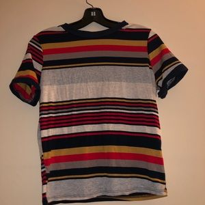 GAZE multicolored striped slightly cropped top 🌞